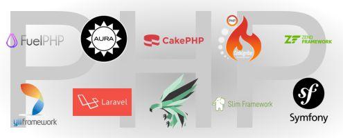 php framworks laraval yii zend symfony cakephp