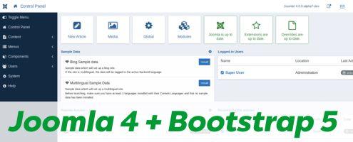Joomla 4 kommt mit Bootstrap 5
